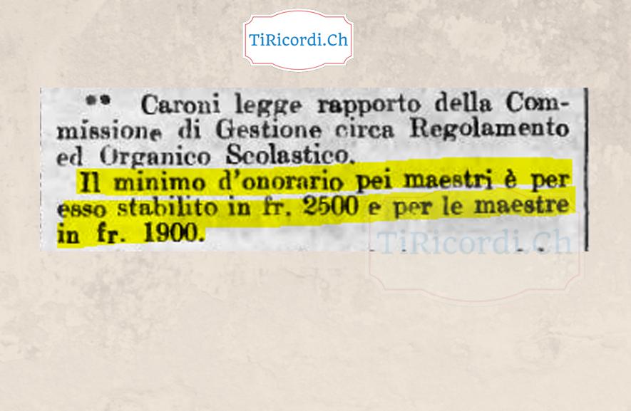 100 anni fa: Consiglio Comunale di Locarno nel Maggio del 1918. #parità #salario