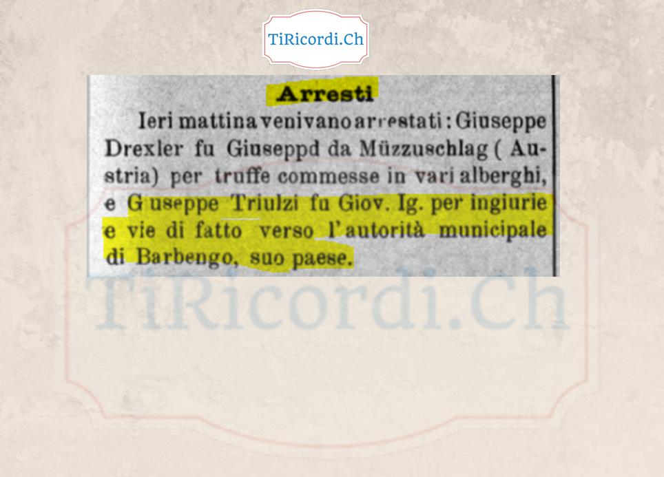 110 anni fa: Arresti nell'aprile del 1908