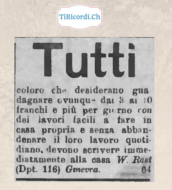110 anni fa un annuncio che parlava di telelavoro era il 1908.