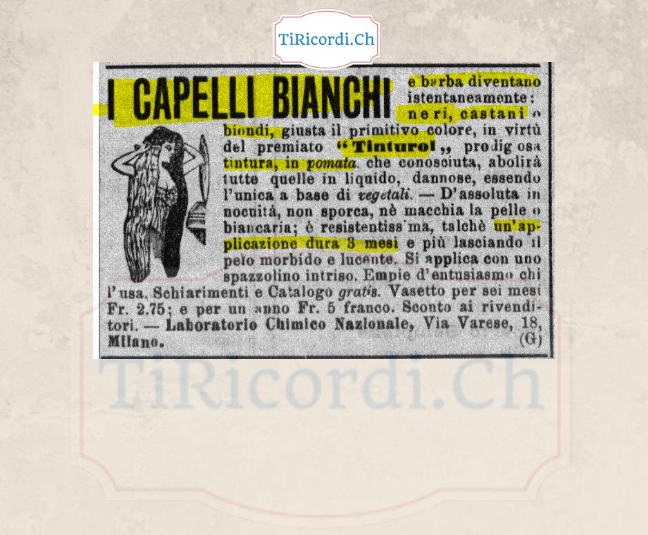 110 anni fa una pubblicità miracolosa...