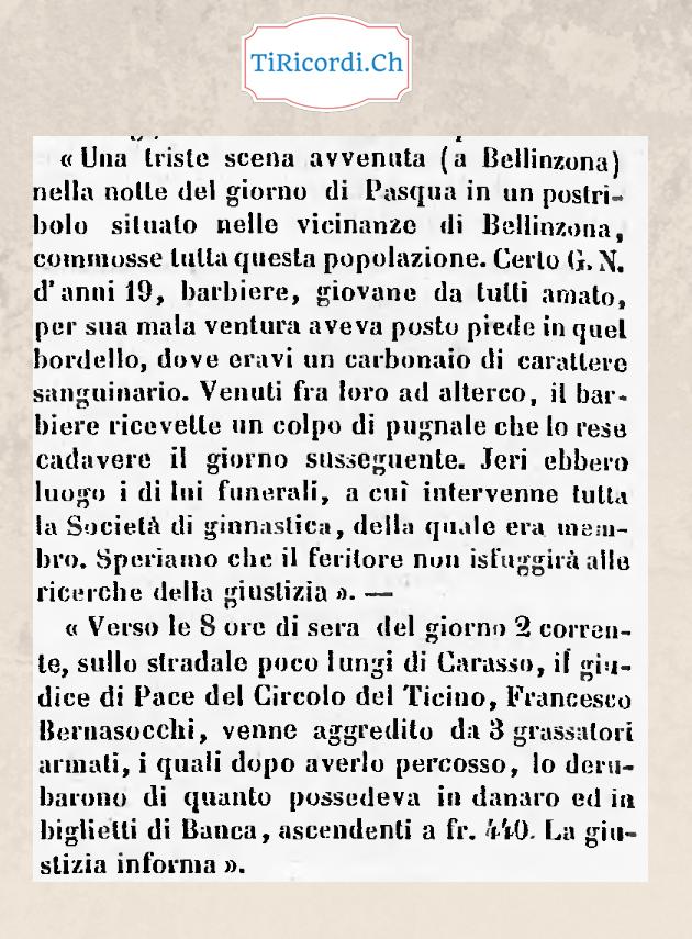 5 aprile di 152 anni fa: Pasqua in un postribolo di Bellinzona.
