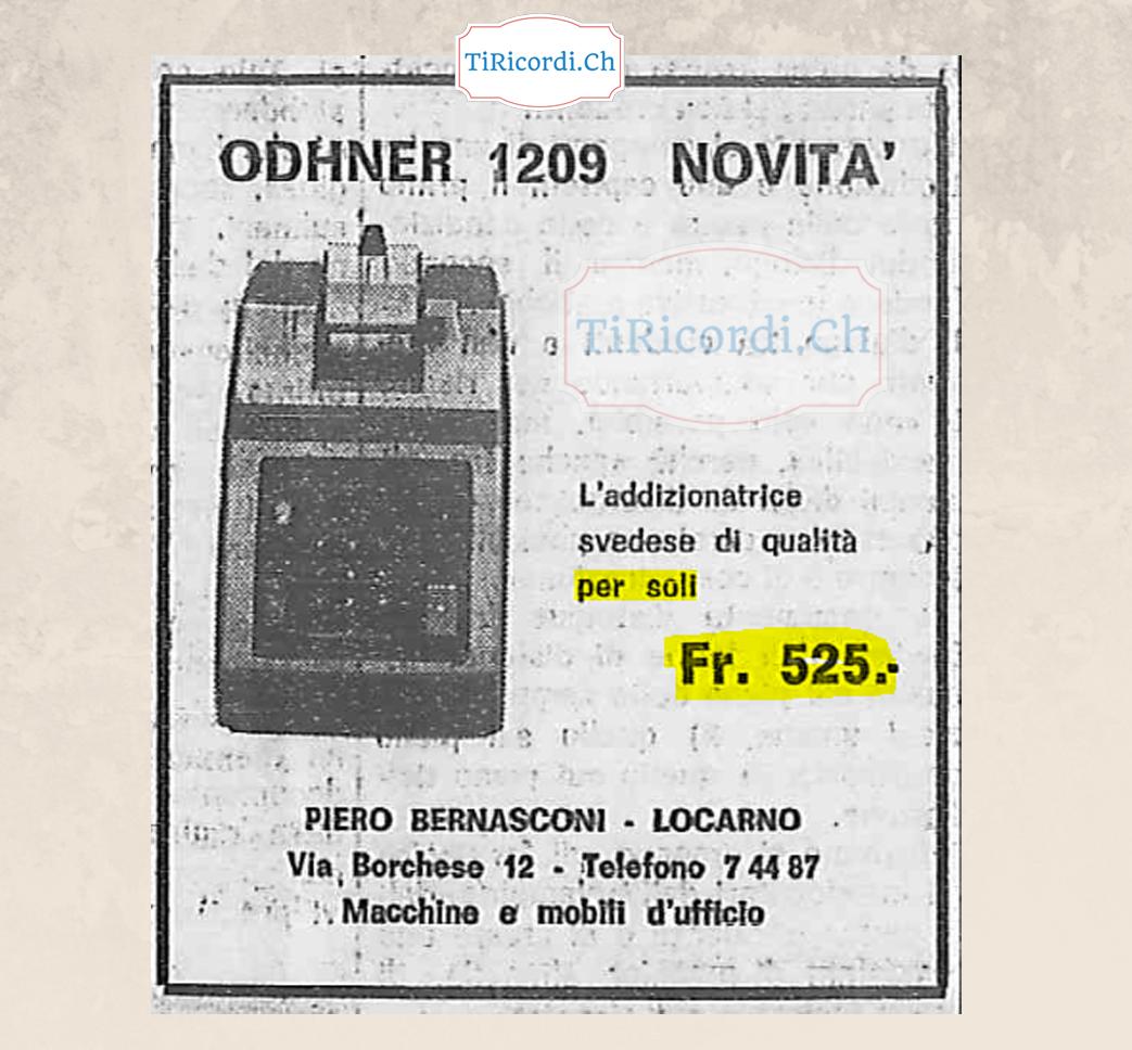 Addizionatrice di 50 anni fa, al costo di uno smartphone attuale.