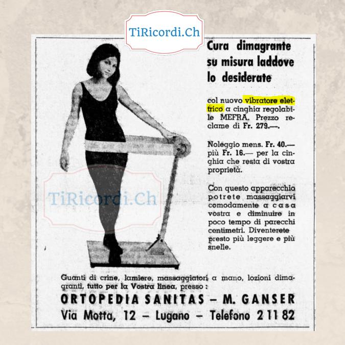 """Aprile 1968, pubblicità di un """"Vibratore elettrico""""..."""