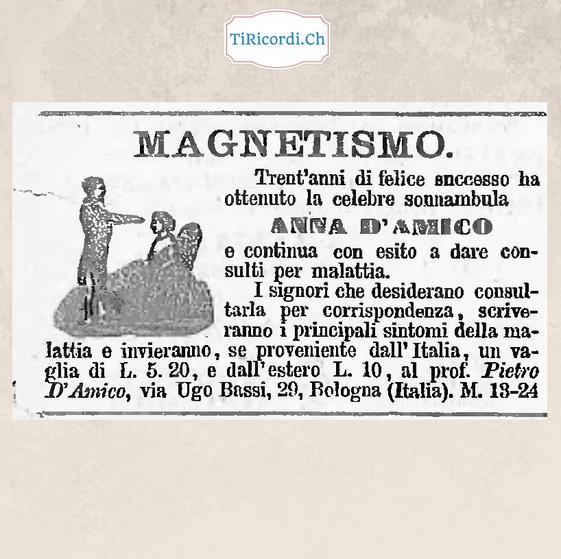 Che ne sa Giucas Casellas?  Pubblicità pubblicata il 13 marzo di 130 anni fa.