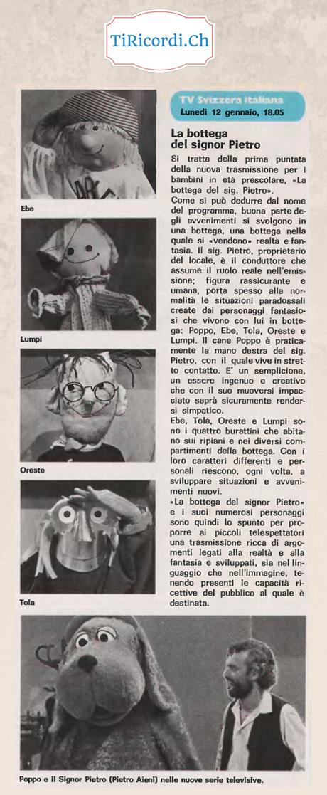 """Il 12 gennaio di 36 anni fa andava in onda la prima puntata della """"Bottega Del Signor Pietro"""". Quanti di voi si ricordan..."""