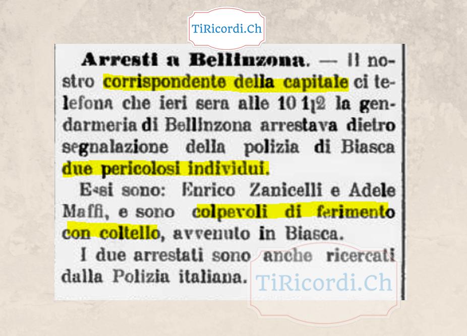 Inviati da Bellinzona, notizia da Breaking News datata 6 ottobre 1908.  #110anni