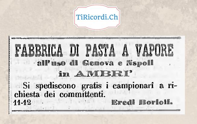Non solo Hockey ad Ambrì.  Pubblicità del febbraio 1888.