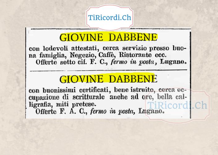 Ottime referenze nel settembre del 1888.