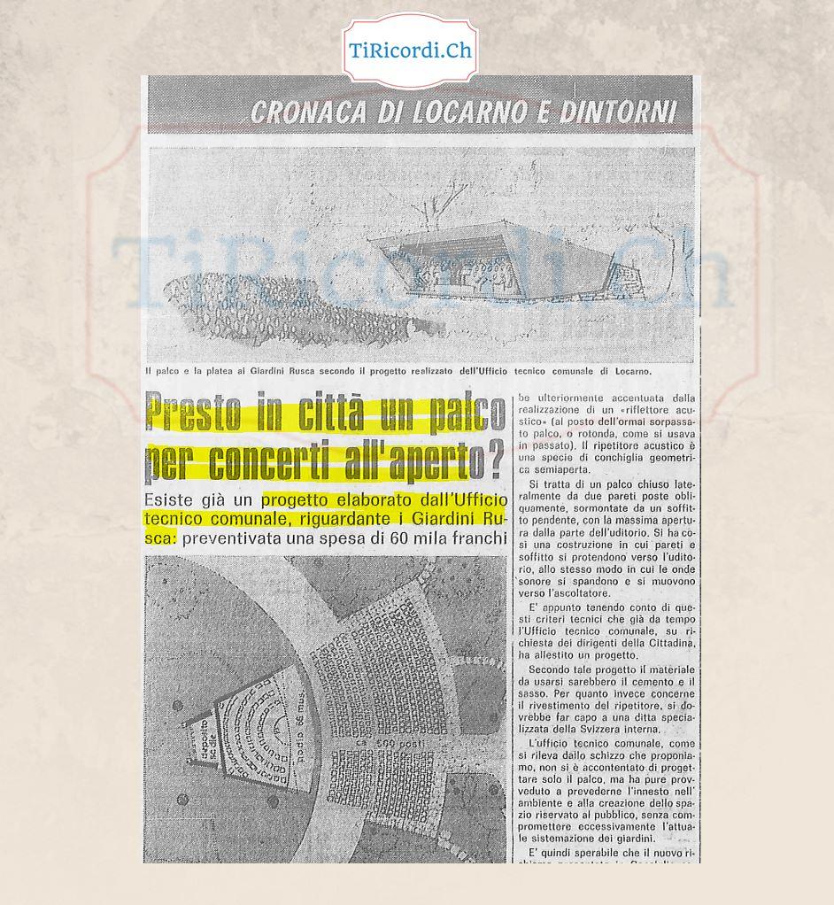 Progetto di 40 anni fa al Parco Rusca di Locarno