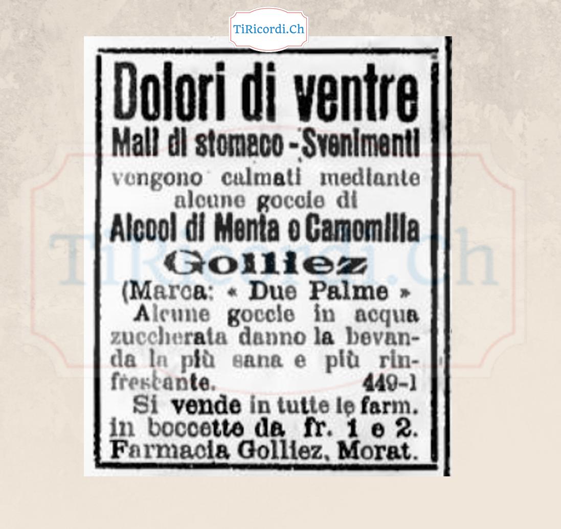 Pubblicità del 18 maggio 1908