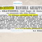 Pubblicità di un collegio maschile pubblicata 130 anni fa.  Settembre 1888.
