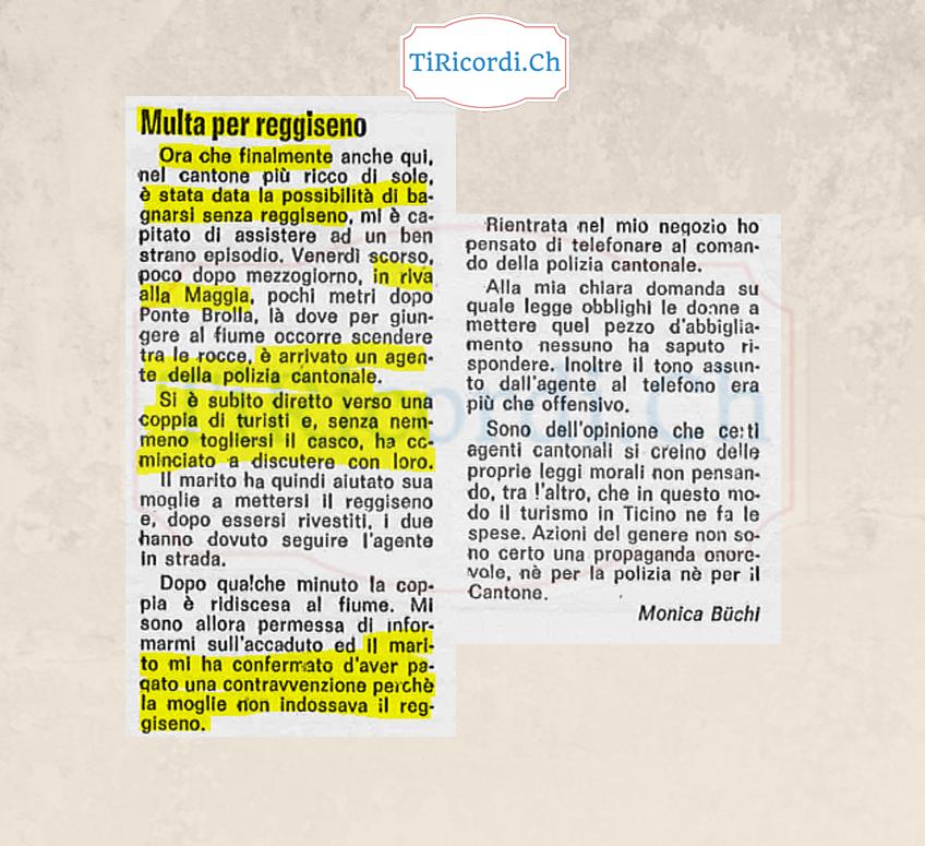 Questioni di topless nel luglio del 1982