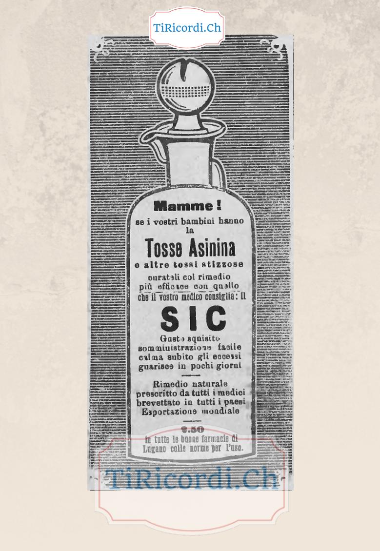 Rimedio per la tosse 110 anni fa...