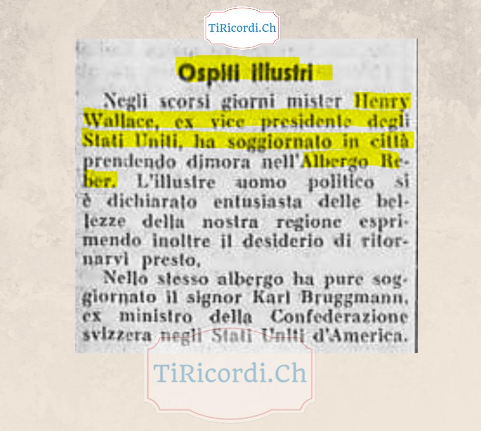 Novembre 1958: Henry Wallace a Locarno #60anni