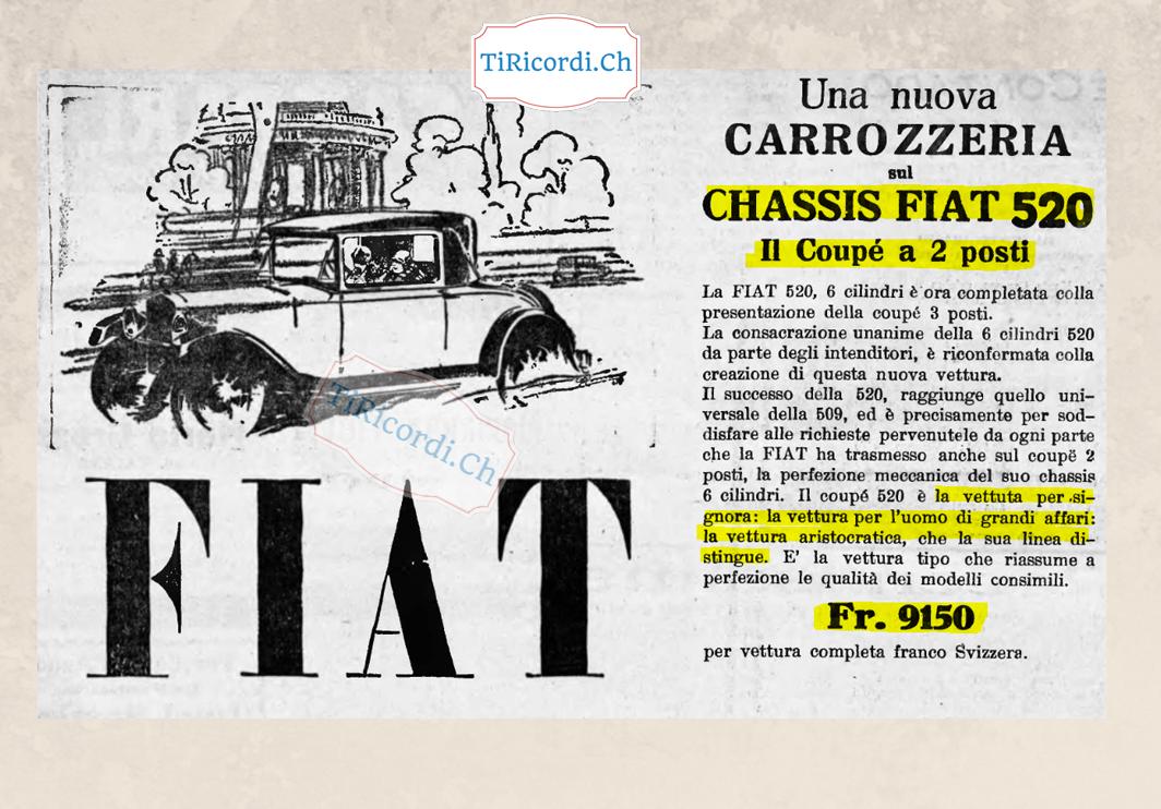 Pubblicità del 26 dicembre 1928 #90anni