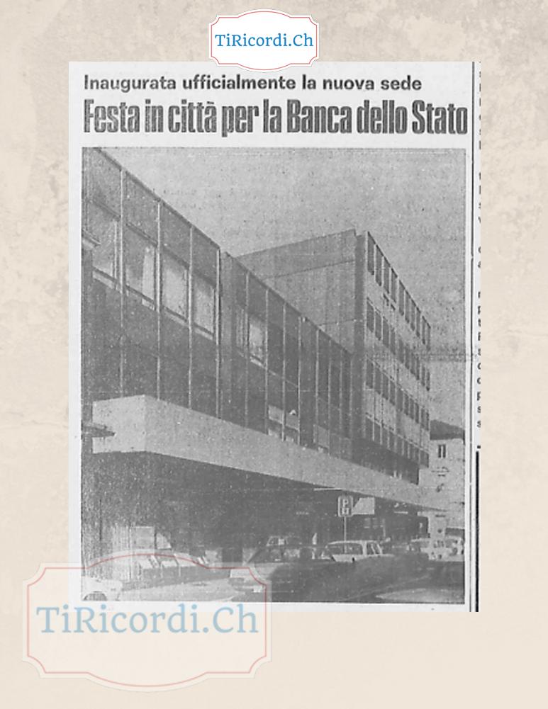 Sono passati #45anni dall'inaugurazione della filiale di Locarno di Banca dello Stato del Canton Ticino. Correva l'11 di...