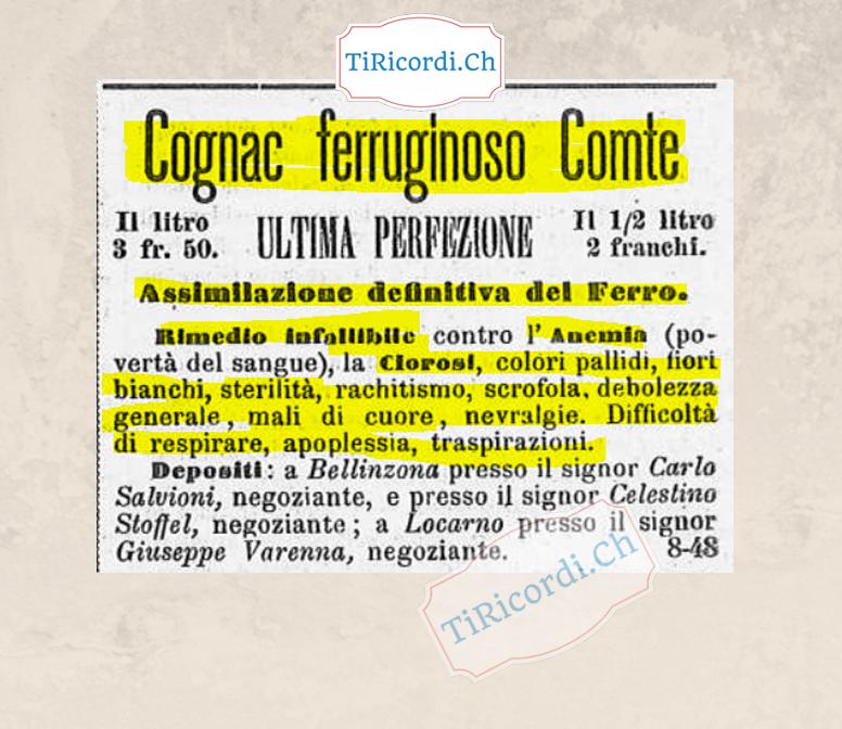 """25 gennaio 1889: """"Cognac"""" come rimedio infallibile a (quasi) tutti i mali #130anni"""