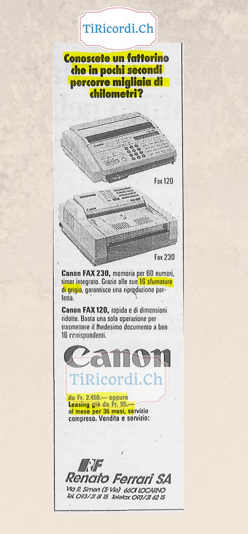 5 gennaio 1989: quando un fax poteva essere acquistato anche in leasing #30anni