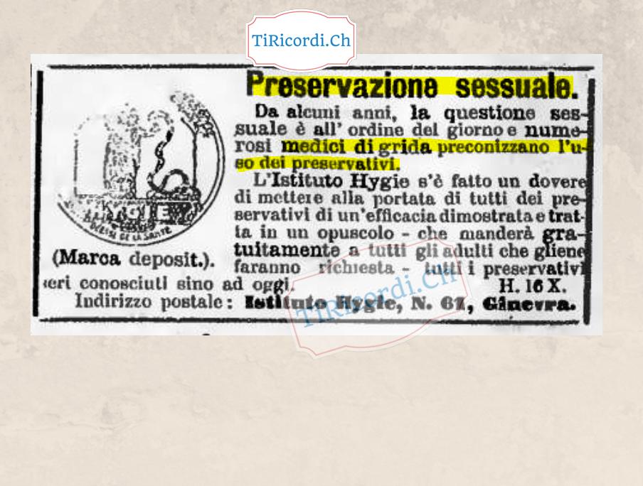 Come venivano pubblicizzati i preservativi #110 anni fa nel gennaio 1909.