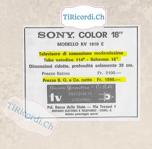 Televisore a colori nel gennaio 1974 #45anni