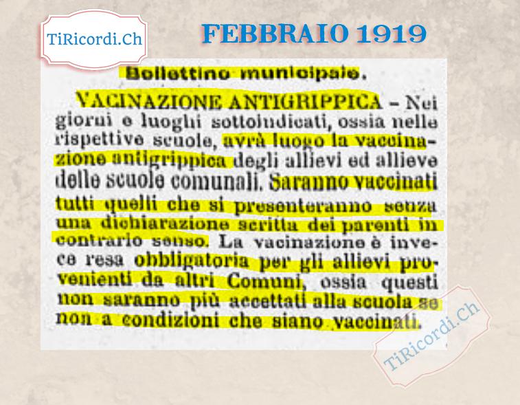 #100anni fa vaccinazione obbligatoria ai bambini ticinesi.