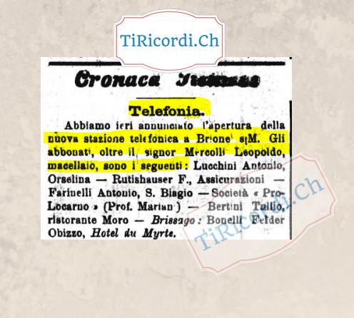 Febbraio 1905: I nuovi abbonati telefonici facevano notizia...