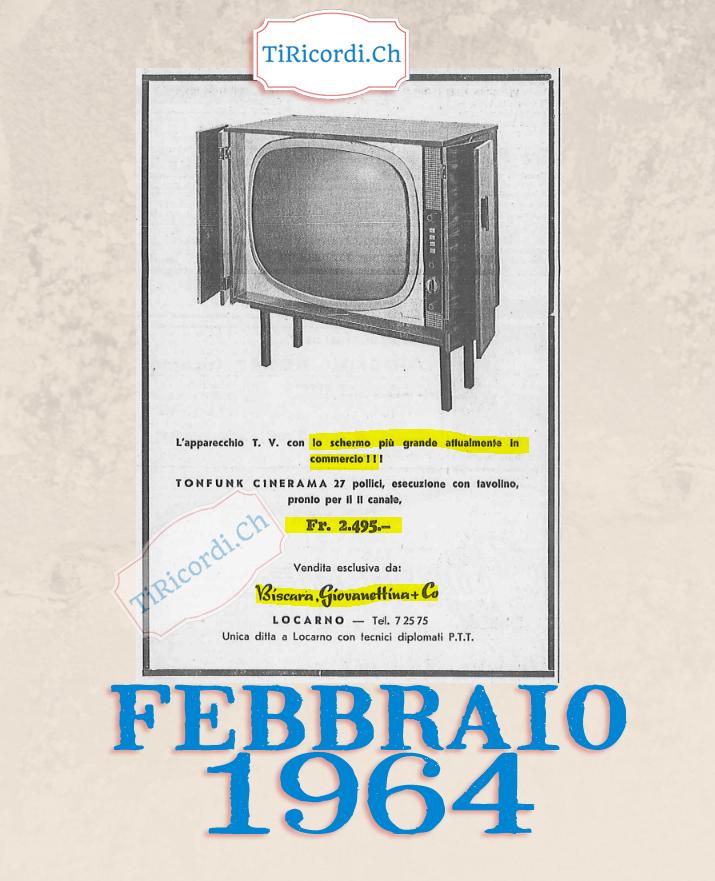 """Pubblicità di un televisore """"gigantesco"""" #55anni"""