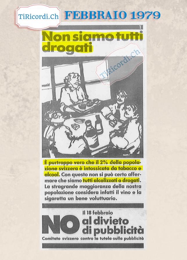 Singolare campagna di #40anni fa contro la limitazione della pubblicità.