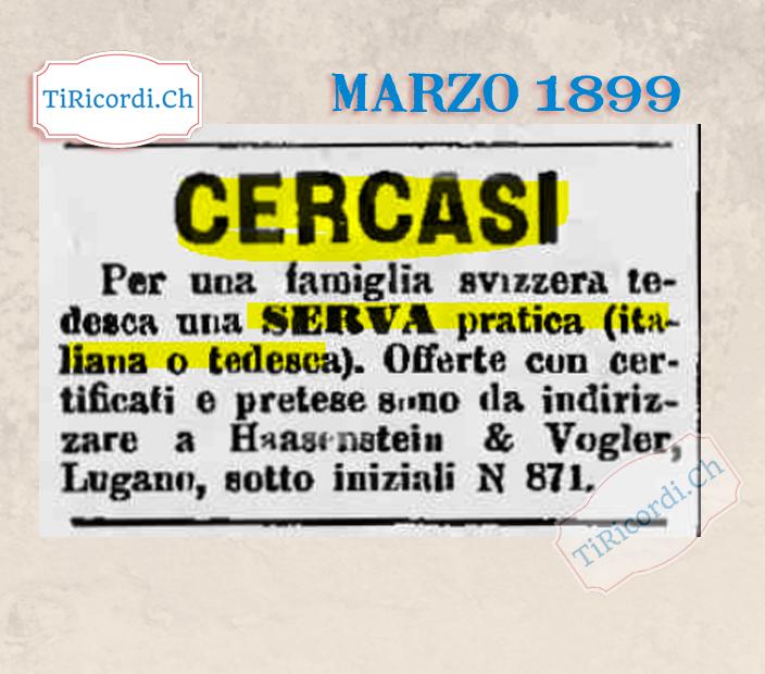 """#120anni Cercasi """"Serva"""" per famiglia..."""