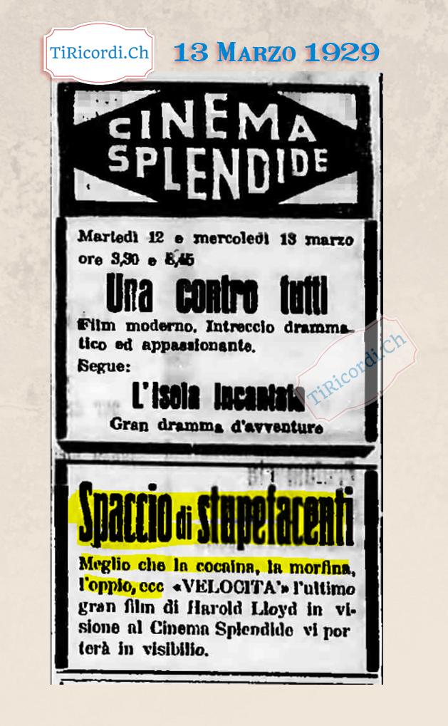 """13 marzo 1929: Pubblicità """"clickbait"""" sui giornali ticinesi #90anni"""