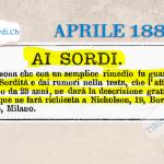 Primo aprile? sì del 1889  Annuncio di #130anni fa