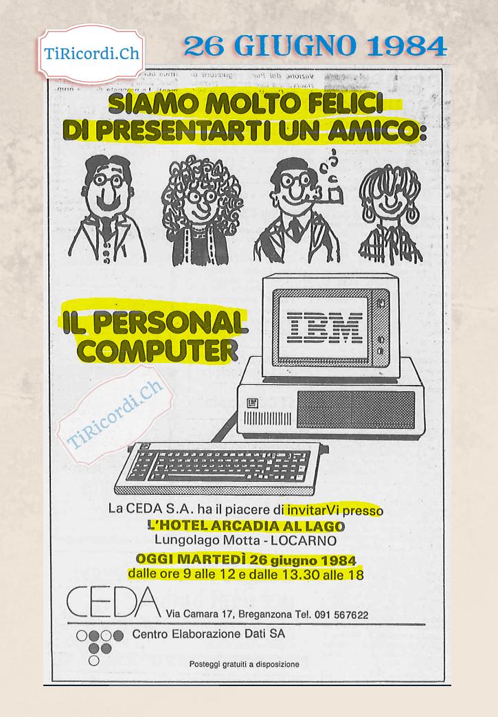 """26 giugno del 1984, oggi veniva presentato il misterioso """"Personal Computer"""" #35anni"""