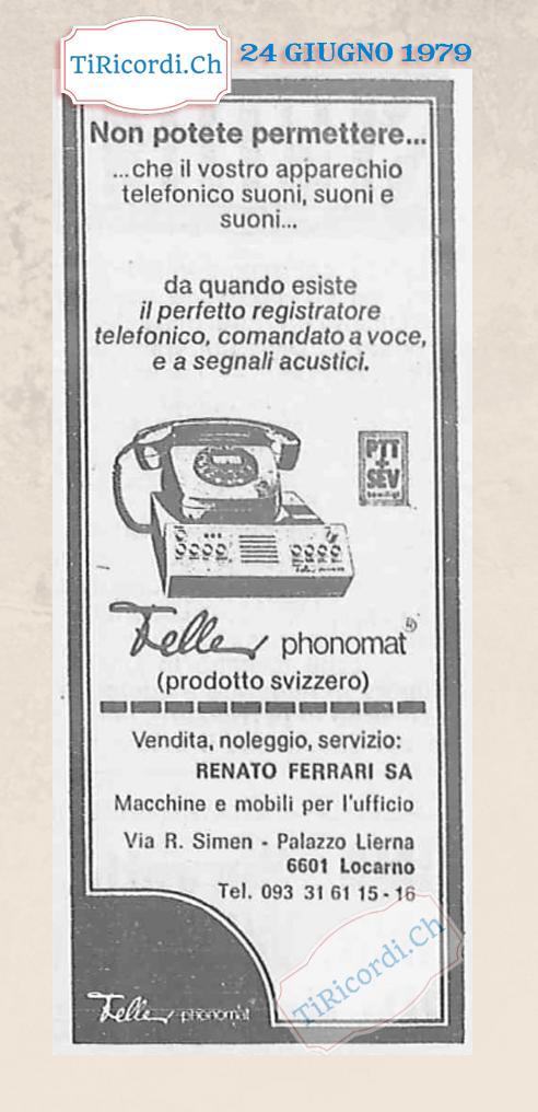 #40anni La segreteria telefonica! Giugno 1979