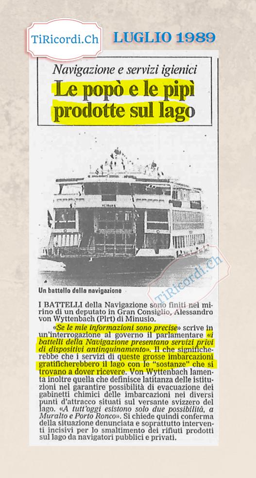 1 luglio 1989 grandi interrogazioni e grandi titolisti.