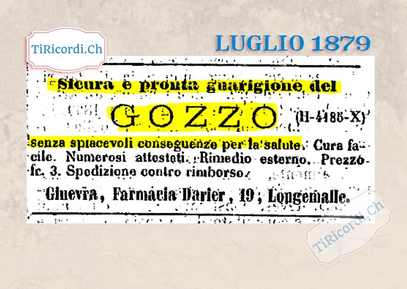 Luglio 1879 Rimedio contro il gozzo #140anni