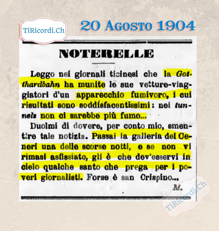 20 Agosto 1904: Fake News di #115anni fa