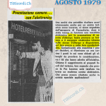 Agosto 1979: prenotazione hotel elettronica, che ne sa booking.com! #40anni