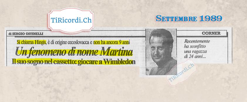 #30anni fa Sergio Ostinelli segnala una giovanissima (8 anni) Martina Hingis come astro nascente. La tennista svizzera i...