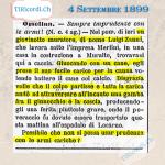 """4 Settembre 1899: """"Incauto giovonotto"""" si ferisce con un'arma da fuoco #120anni"""