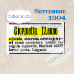 #120anni: Annunci pubblicati nel settembre 1899