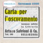 Annunci pubblicati #100anni fa nel settembre del 1919.