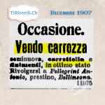 Dicembre 1909 #110anni fa singolare forma nella quale veniva raccontata una triste notizia.