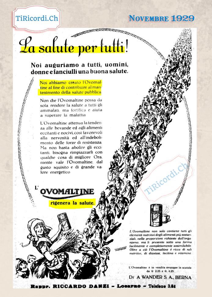 Una delle prime pubblicità della Ovomaltina #90anni
