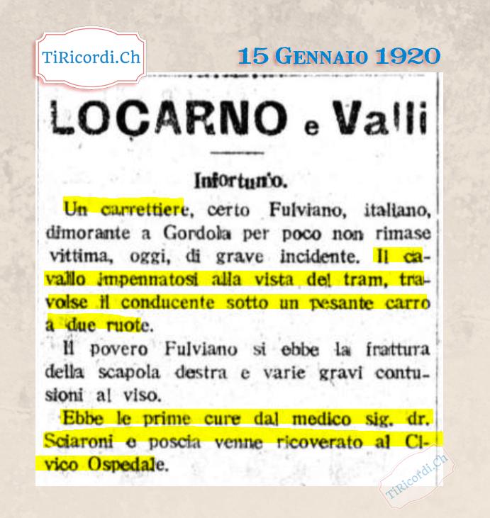 15 Gennaio 1920: Breaking News a Locarno #100anni