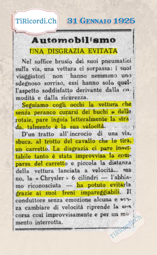 31 Gennaio 1925: Notizia o pubblicità? #115anni