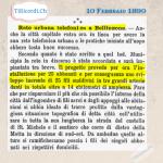 10 Febbraio 1890: Primi 25 abbonati telefonici a Bellinzona #130anni