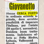 22 Febbraio 1915: annunci di natura varia #105anni