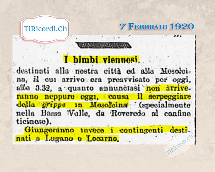 7 Febbraio 1920: Bimbi viennosi in arrivo #100anni