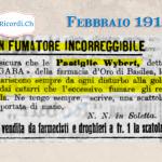 Febbraio 1910: pastiglie per fumatori  #110anni