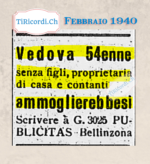 Febbraio 1940: Ottime credenziali #80anni